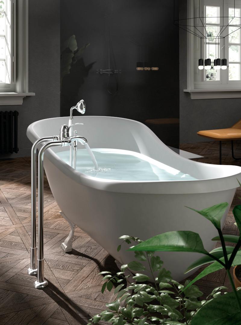 Grifería para bañera vintage de pie