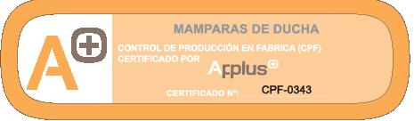 Mamparas de ducha, certificado de resitencia
