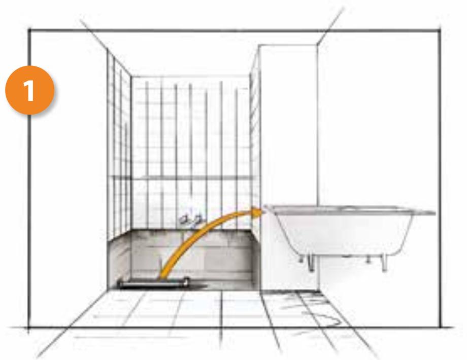 Cambio de bañera por plato de ducha. Paso 1, retiramos tu bañera