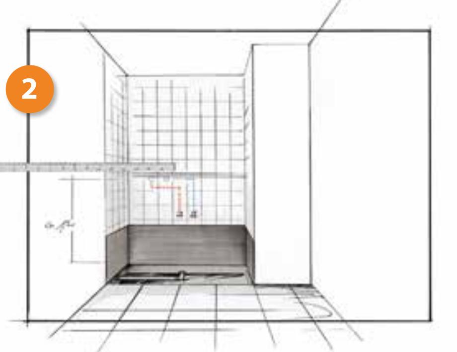 Cambio de bañera por plato de ducha. Paso 2, ajustamos tuberías y preparamos la pared.