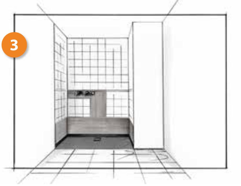 Cambio de bañera por plato de ducha. Paso 3, instalamos el plato de ducha y lo sellamos