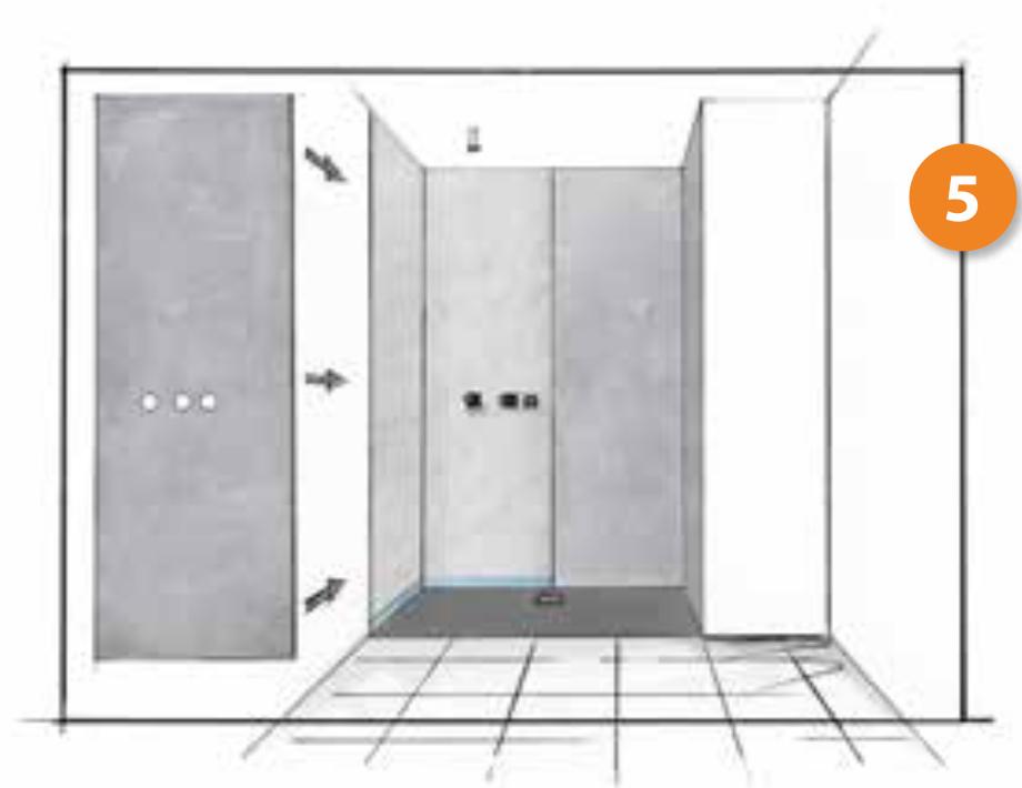 Cambio de bañera por plato de ducha. Paso 5, instalamos el sistema de ducha
