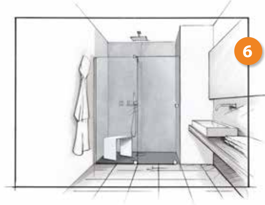 Cambio de bañera por plato de ducha. Paso 6, instalamos la mampara de ducha