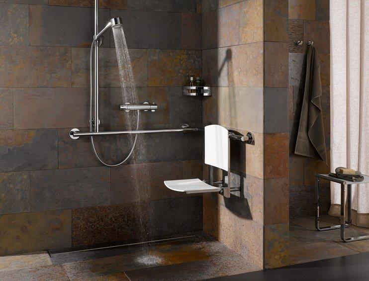 Asiento abatible para la ducha y el baño