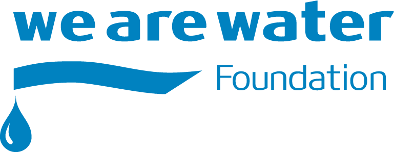 Logo de la fundación we are water
