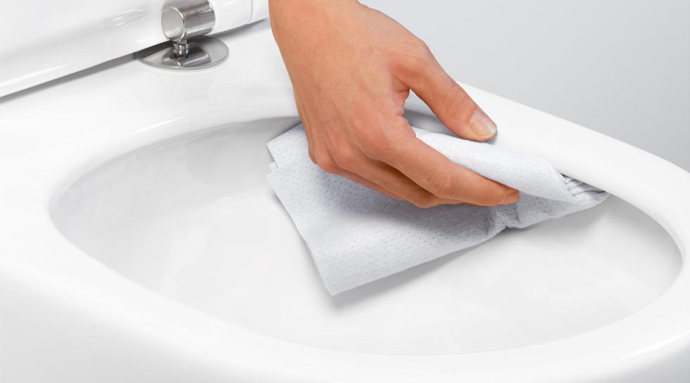 Inodoro con tecnología TwistFlush de fácil limpieza
